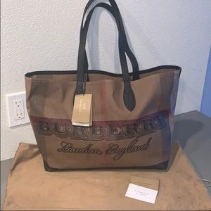 Authentic Burberry London doodle tote brand new